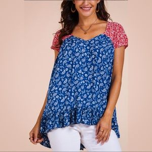 Relaxed Fit Hi-Low Tunic